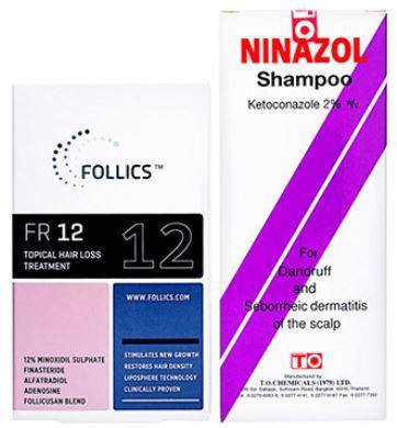 海外並行輸入育毛剤フォリックス12とニナゾルシャンプー